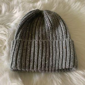 Zara Winter Gray Hat with Sparkles size M